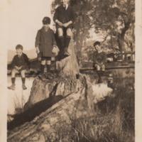(L to R) Ken Gilmore, Tom Lee, Ray Gilmore, Peter Robb, [Goulburn River, circa 1930]