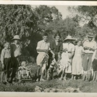 Fishing was a family and social event, Warner family, Paroo River, [no date]