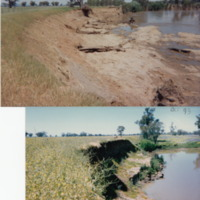The Namoi River (NSW) in 2000 after a flood (top) and in October 1993 (bottom)