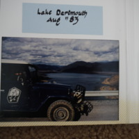 Fieldwork at Lake Dartmouth (VIC), August, 1983.