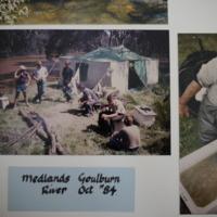 Fieldwork at Medlands, Goulburn River (VIC), October, 1984.