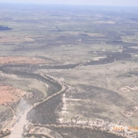 An aerial view of the flood waters in the Upper Darling region, 19 March 2010.