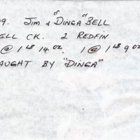 4-3-09. JIM AND DINGA BELL | MITCHELL CK. 2 REDFIN | 1 @ 1LB 14 OZ. 1 @ 1LB 9 OZ. | CAUGHT BY DINGA