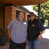 Phillip Sullivan (L) and a representative from the New South Wales Aboriginal Land Council (R), Tamworth (NSW), 18 October 2010.