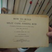 Title page of How to build your own split can fishing rod: A manual of instruction in the art of rod making for the amatuer by G. Lawton Moss, The technical Press, London, 1947