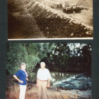 Two photographs of the weir, Condamine, Lennie Brae, [n.d.]