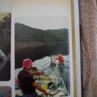 Fieldwork at Lake Dartmouth (VIC), 1982.