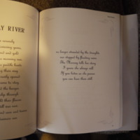 The second page of verse titled The Murray River on page 61 of Pats Poems