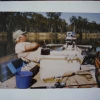 Fieldwork at Bourkes Beach, Murray River (VIC). October, 1983.