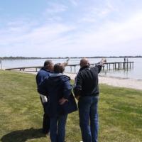 (L to R) Kingsley Abdulla, Jodi Frawley and Phil Duncan at Lake Bonney (SA), 2010