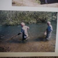 Fieldwork at Corryong Creek (VIC), October, 1982.