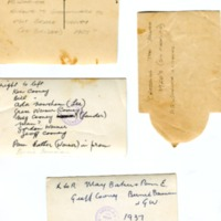 Annotations on rear of photographs in Warner collection