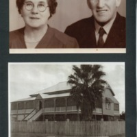 Geoff Reilly's grandparents (above) and the Lennie Brae homestead (below), 1920s.