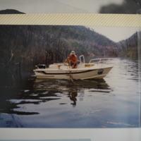 Fieldwork at Lake Dartmouth (VIC), November, 1983.