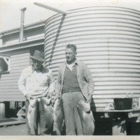 (L to R) Harry Wippel, King Gaske, circa 1950