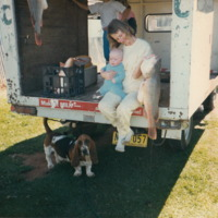 Anne Marie Parnaby with baby and cod 1988-05-01
