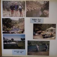 Fieldwork at: (top) Buffalo River (VIC), February, 1984; (bottom) Corryong Creek (VIC), October, 1982.
