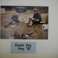 Fieldwork at Doyles Dam, May, 1985.