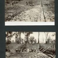 The construction of the weir, Lennie Brae, Condamine, [n.d.]