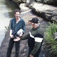 (L to R) Hamish Sewell and Sam Bonner , Condamine River (QLD), 21 September 2010.