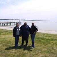 (L to R) Jodi Frawley, Kingsley Abdulla and Phil Duncan, Lake Bonney (SA), 2010