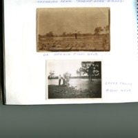 Dr Hankin (above) and Cross family (below) at Angledool Weir, 1920s.