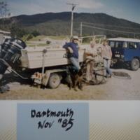 Fieldwork at Lake Dartmouth (VIC), November, 1985.
