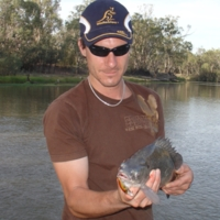Fish catch and lure, Katarapko, [no date]