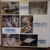(top to bottom) Fieldwork at: Lake Dartmouth (VIC), September-December, 1980; Medlands, Goulburn River (VIC), 1986; Medlands, Goulburn River (VIC), October, 1984; Goulburn River, Shepparton (VIC), August, 1983.