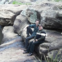 (L to R) Hamish Sewell and Sam Bonner, Upper Condamine (QLD), 21 September 2010.