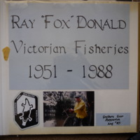 From photo album of Ray Donald; Victorian Fisheries 1951-1988. (bottom) Fieldwork at Goulburn River, Shepparton (VIC), August 1983.