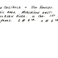 DON COLLIHOLE + JIM HANLEY. | APRIL 2006. MURCHISON EAST. | GOULBURN RIVER. 4 COD. 1ST IN 30 YEARS | 2 @ 8LB. 2 @ 6LB.