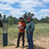 (L to R) Hamish Sewell and Paul Wheeler, oral history interview, Paroo River, 2010