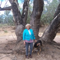 Lorna McNiven pictured near the riverbank of the Paroo, Eulo (QLD), 17 October 2010.