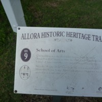 Plaque detailing history of Allora Historical Museum, Queensland