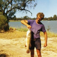 Barry Porter with Murray Cod, [no location/date]