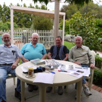 Jim Hanley, Don Collihole, Geoff Vernon and Keith Jones, Seymour (VIC), 26 October 2010.