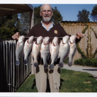 Jim Hanley with seven Yellowbelly caught at Nillahcootie (VIC), September 2007.