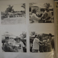 Photographs taken at the fishing competition of the winners of the draw, 1992.