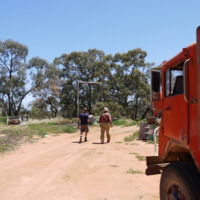 Interview with Bill Grace (right), Grace property, Great Anabranch, 2010